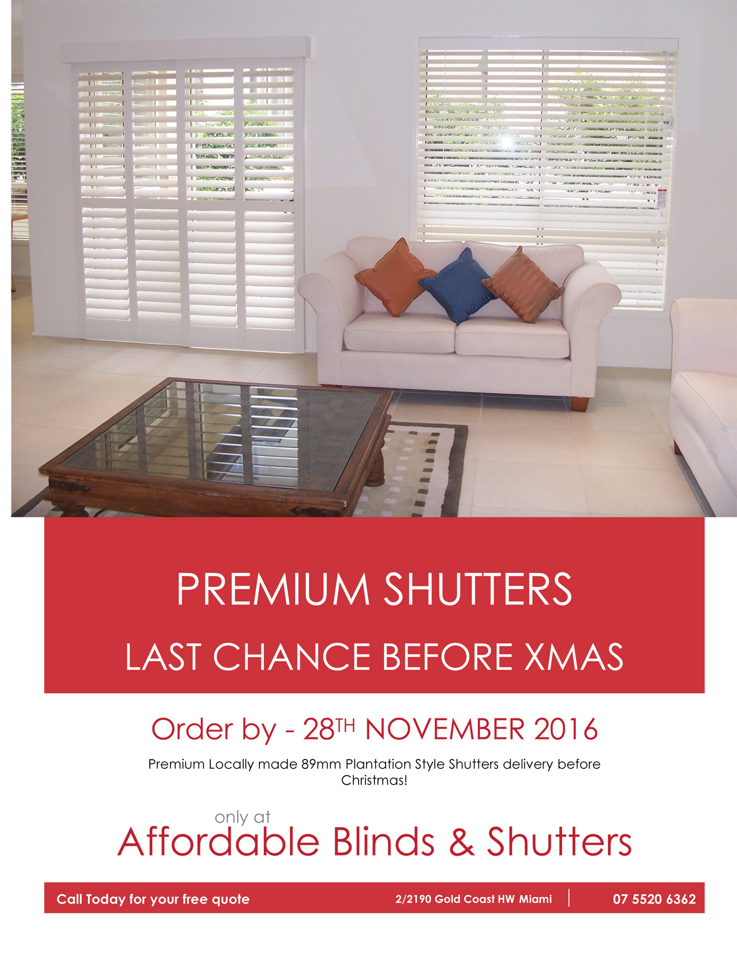 Gold Coast Christmas Shutters Special